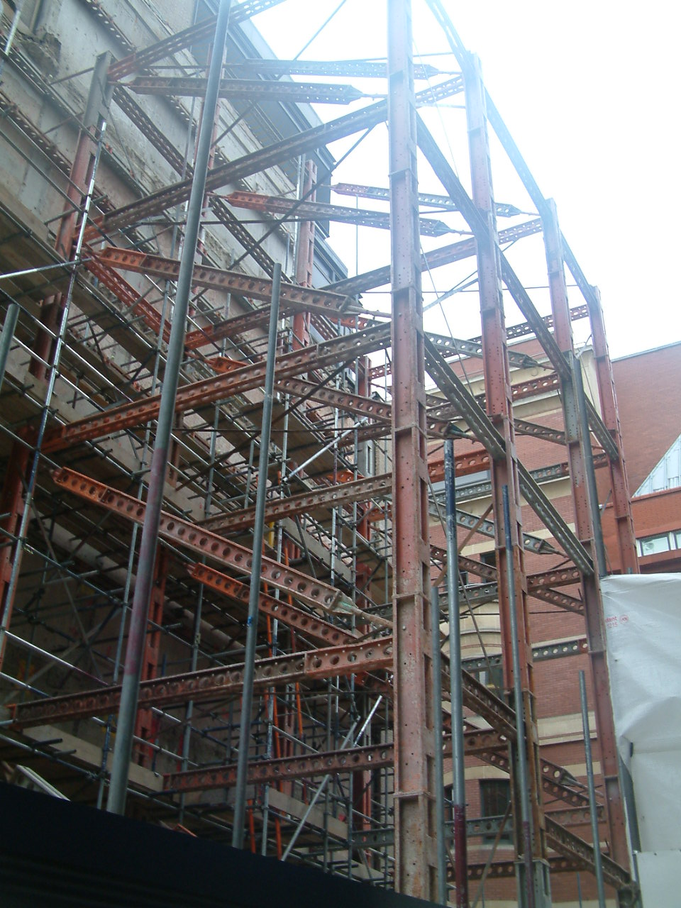 Facade Retention with access Scaffold