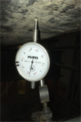 The gauge indicates if any movement occured