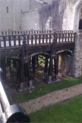 Henry III's Water Gate held up by our propping